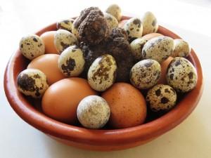 Huevoa trufados